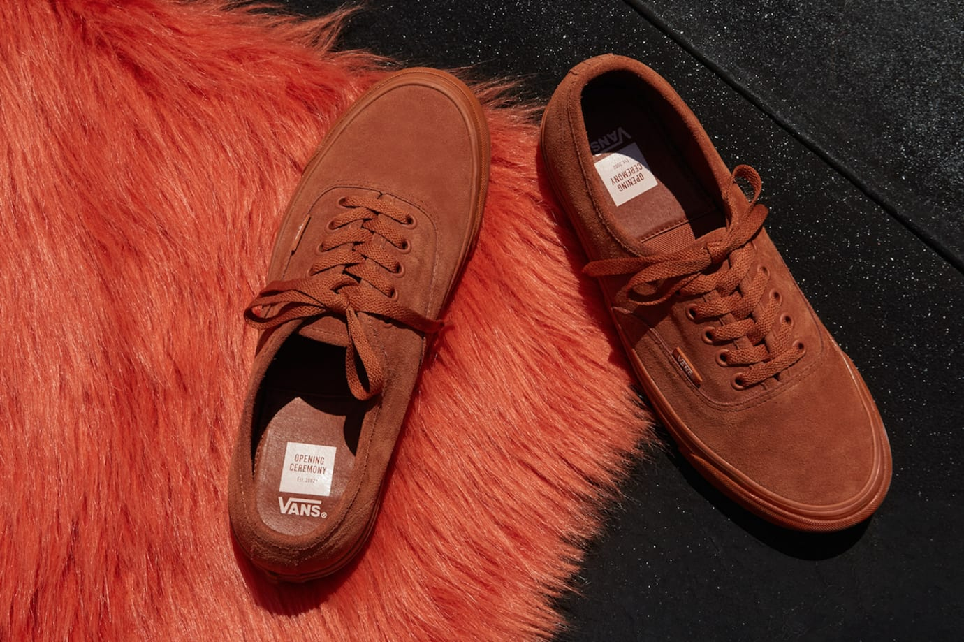 445b42f209 Image via Opening Ceremony Opening Ceremony Vans Suede Red