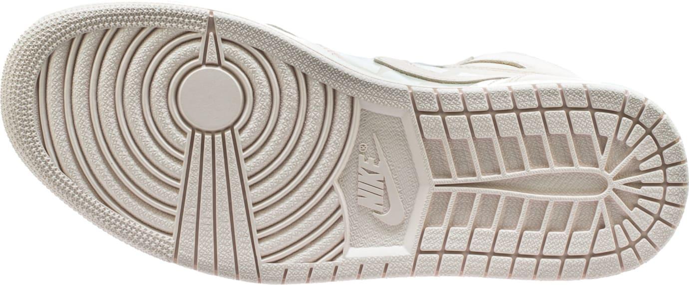 91c13f599148e1 Image via for Shoe Palace · Air Jordan 1 High Guava Ice Sail Release Date  555088-801 Sole