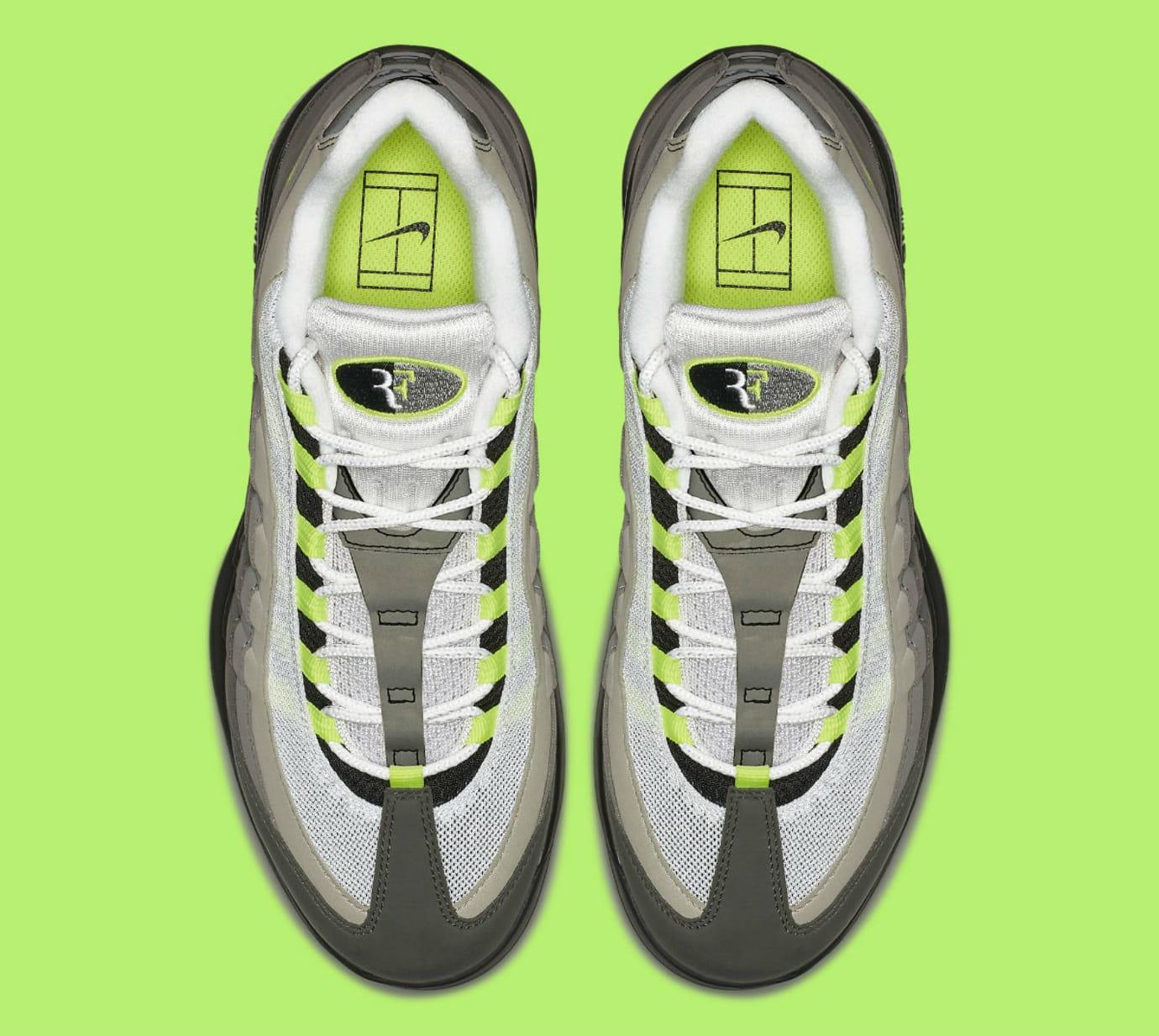dc60d478dfd NikeCourt Vapor RF Air Max 95 Neon Release Date AO8759-078 Top
