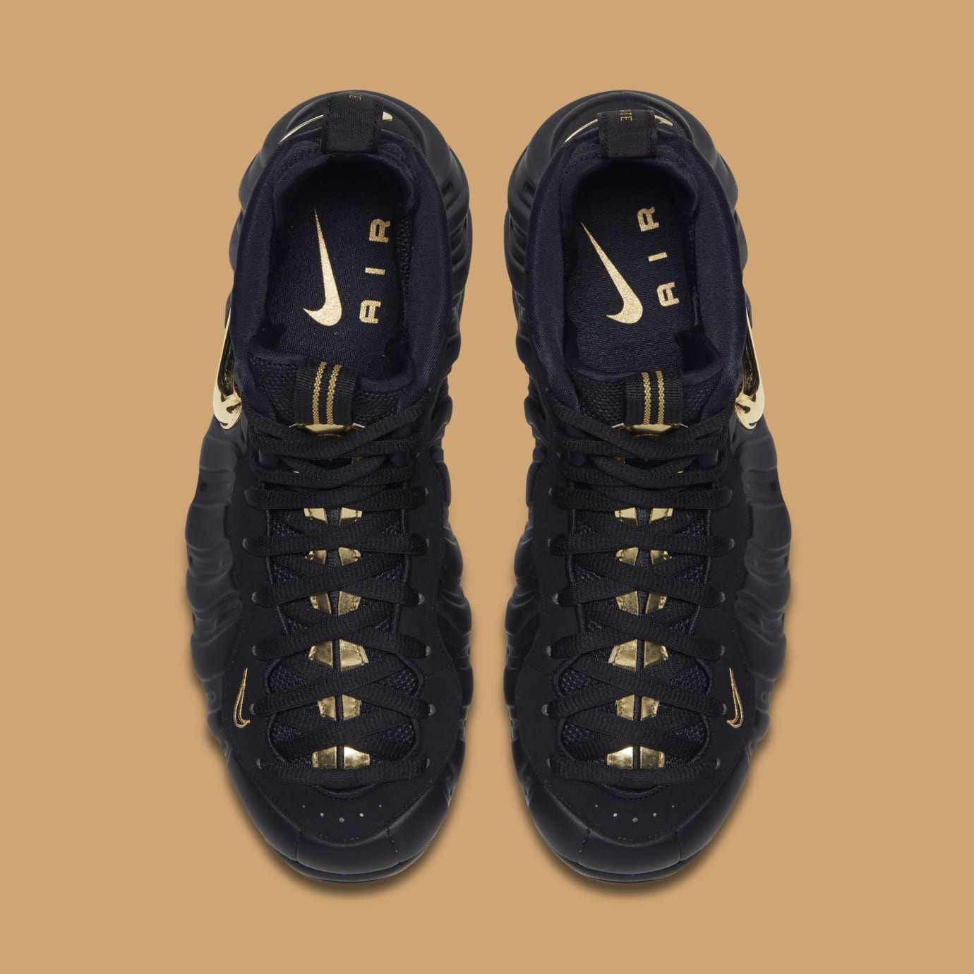 new concept 2d672 74c14 Image via Nike Nike Air Foamposite Pro  Black Metallic Gold  624041-009  (Top)
