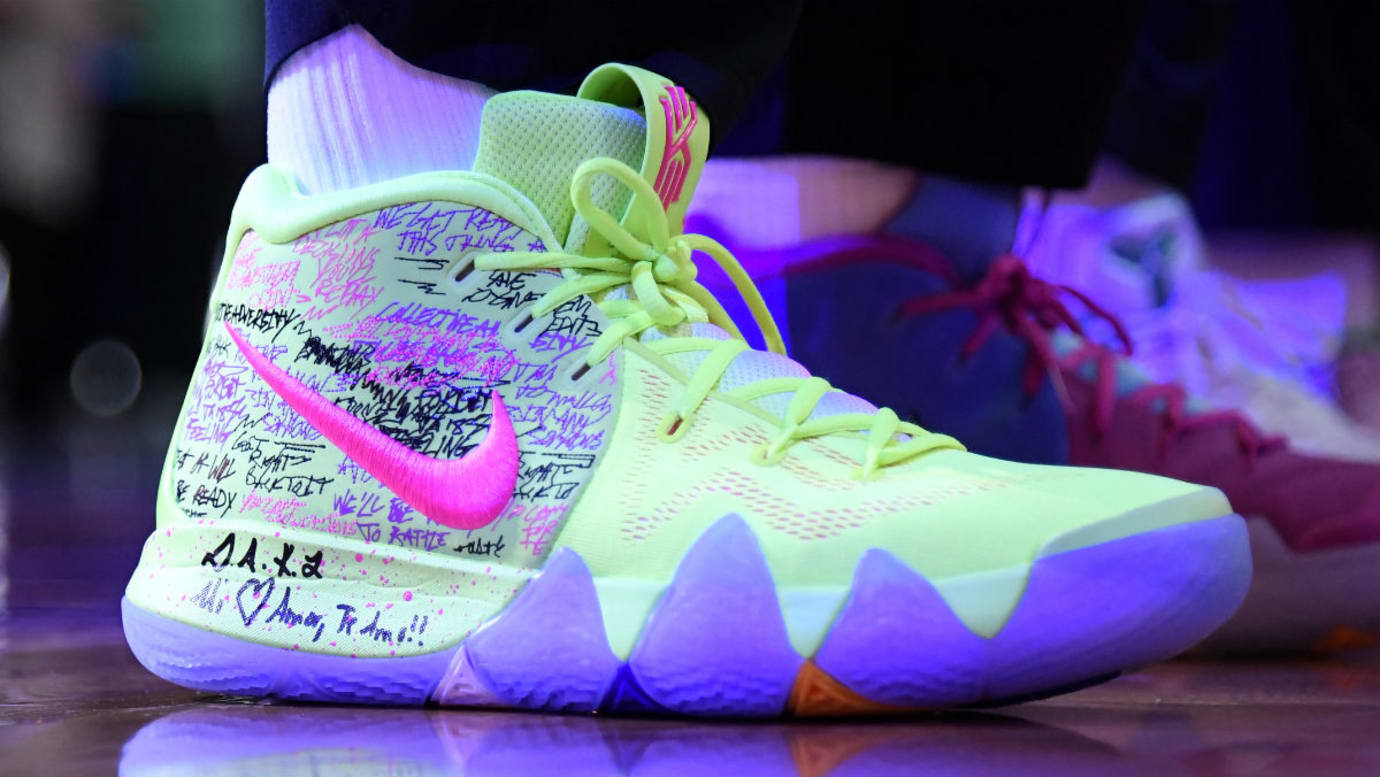 Kyrie Irving Debuts Nike Kyrie 4 Confetti Right