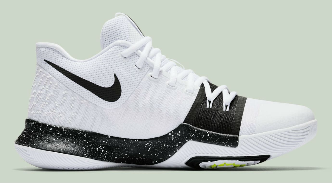 Nike Kyrie 3 White Black Volt Release Date Medial 917724-100