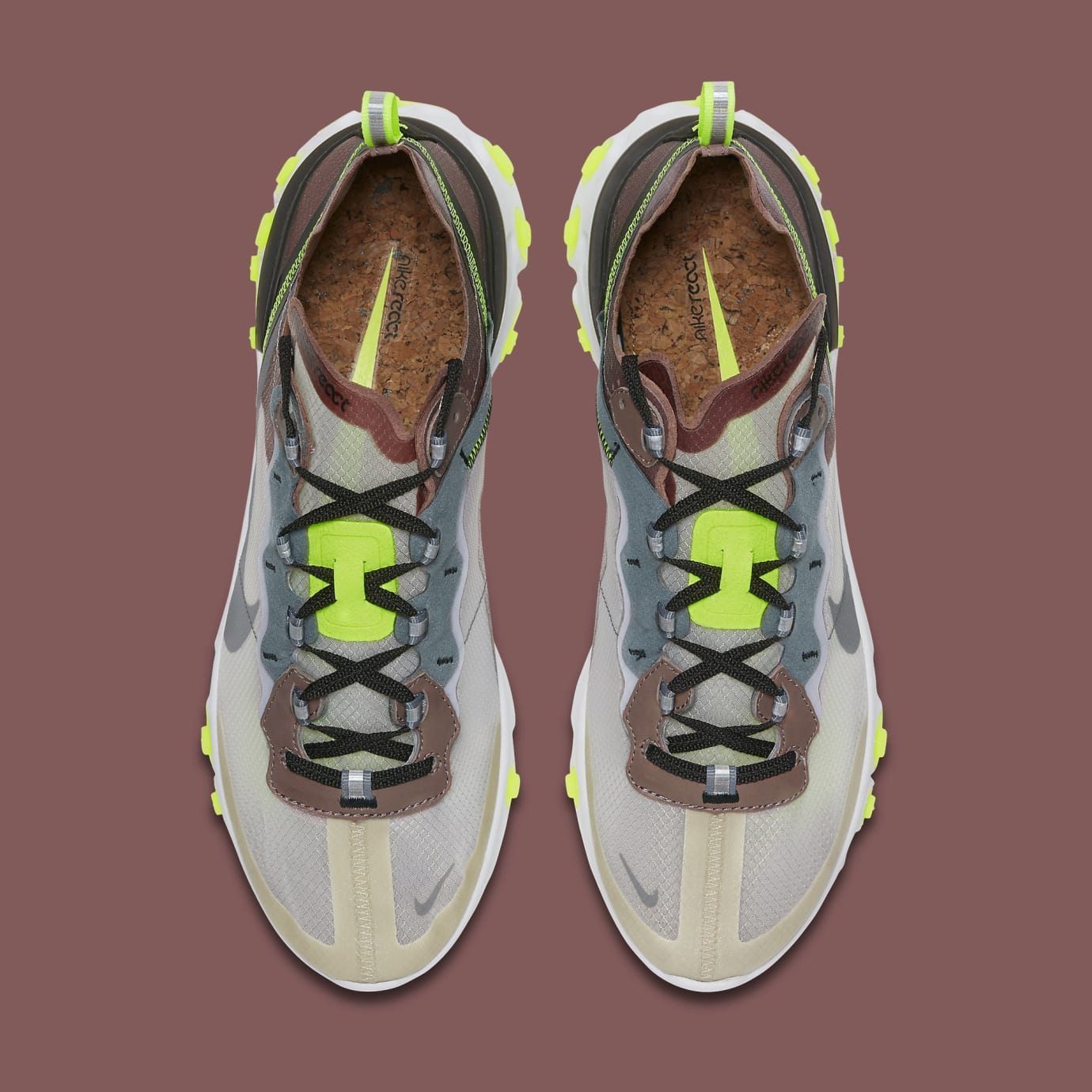 c78e3806211a Nike React Element 87  Desert Sand  AQ1090-002  Dark Grey  AQ1090 ...