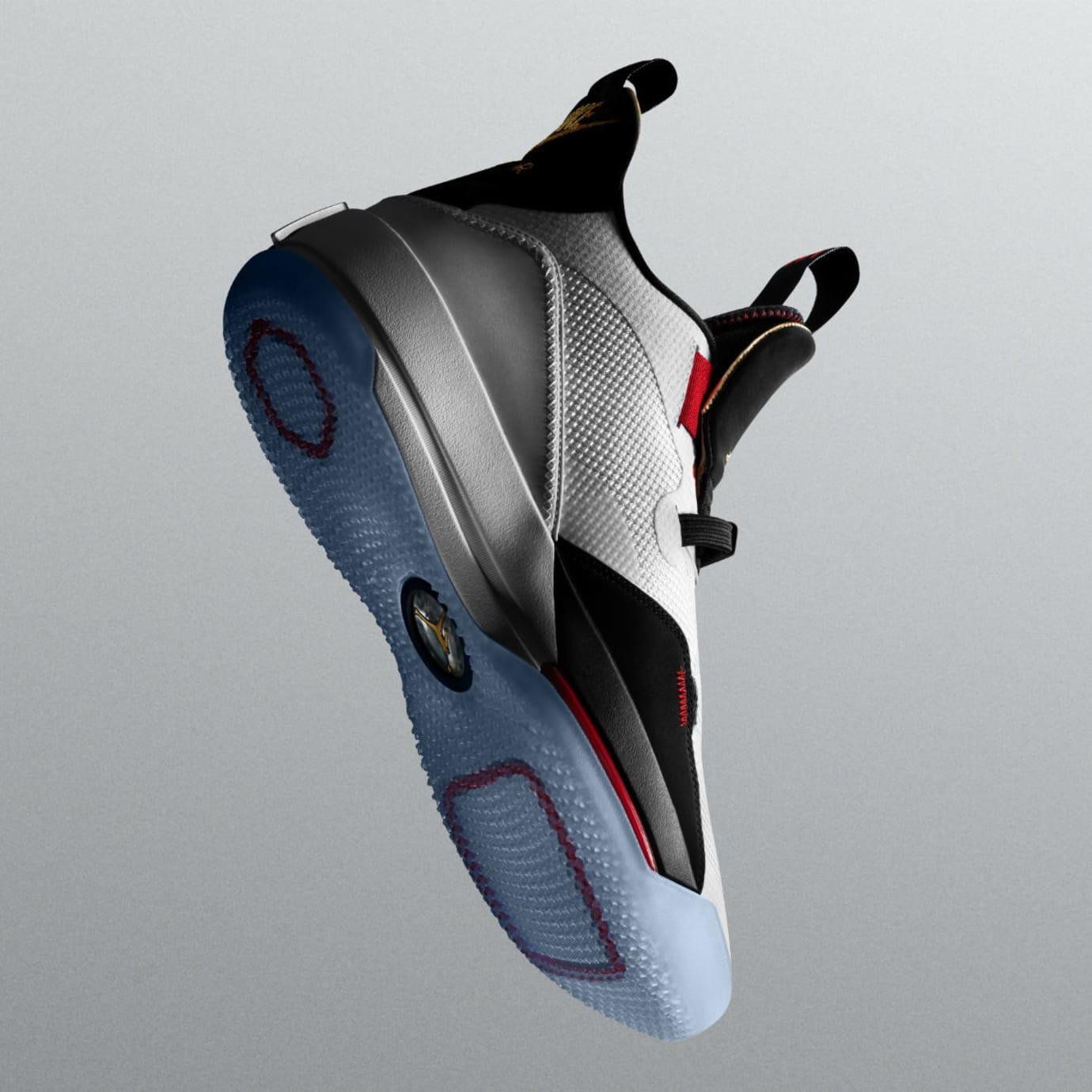 Image via Nike Air Jordan 33 White Black Red Release Date Sole fcfb06ecb
