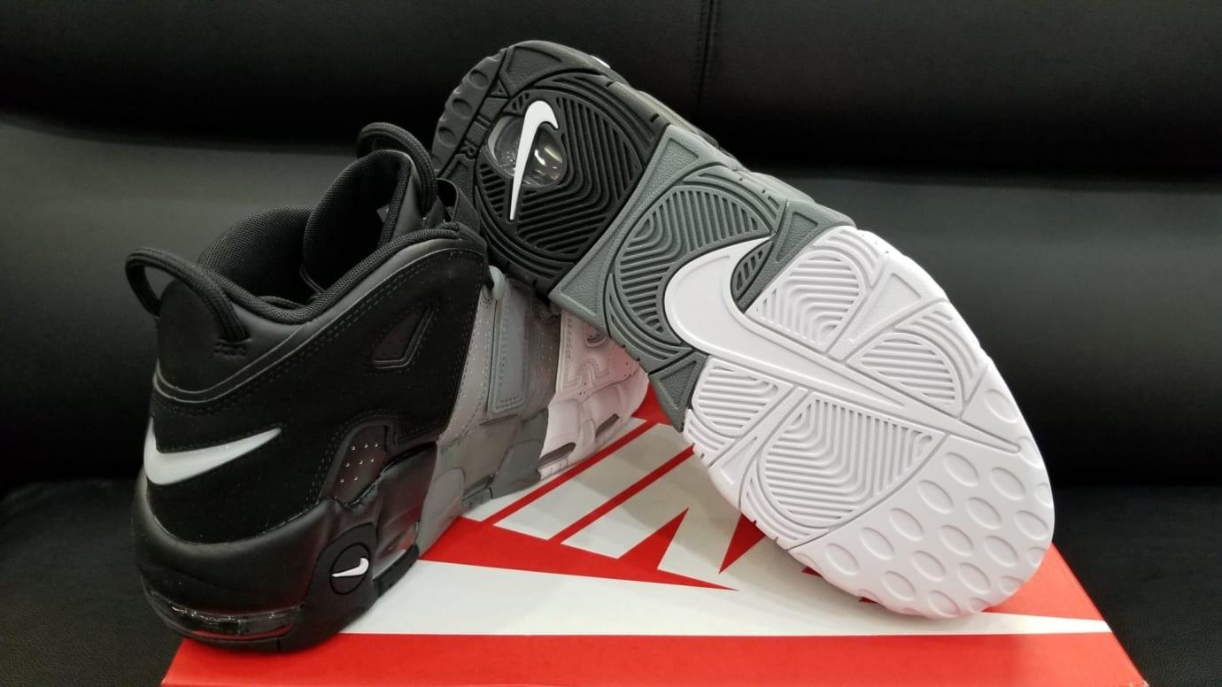 Nike Air More Uptempo Tri-Color Black Grey White Release Date Sole 921948 002