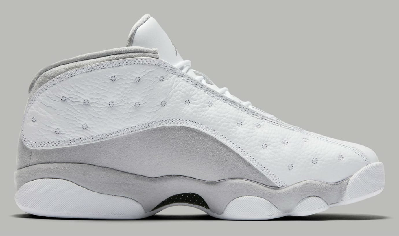 7e05708c9dd2 Air Jordan 13 Low Pure Platinum Release Date Medial 310810-100