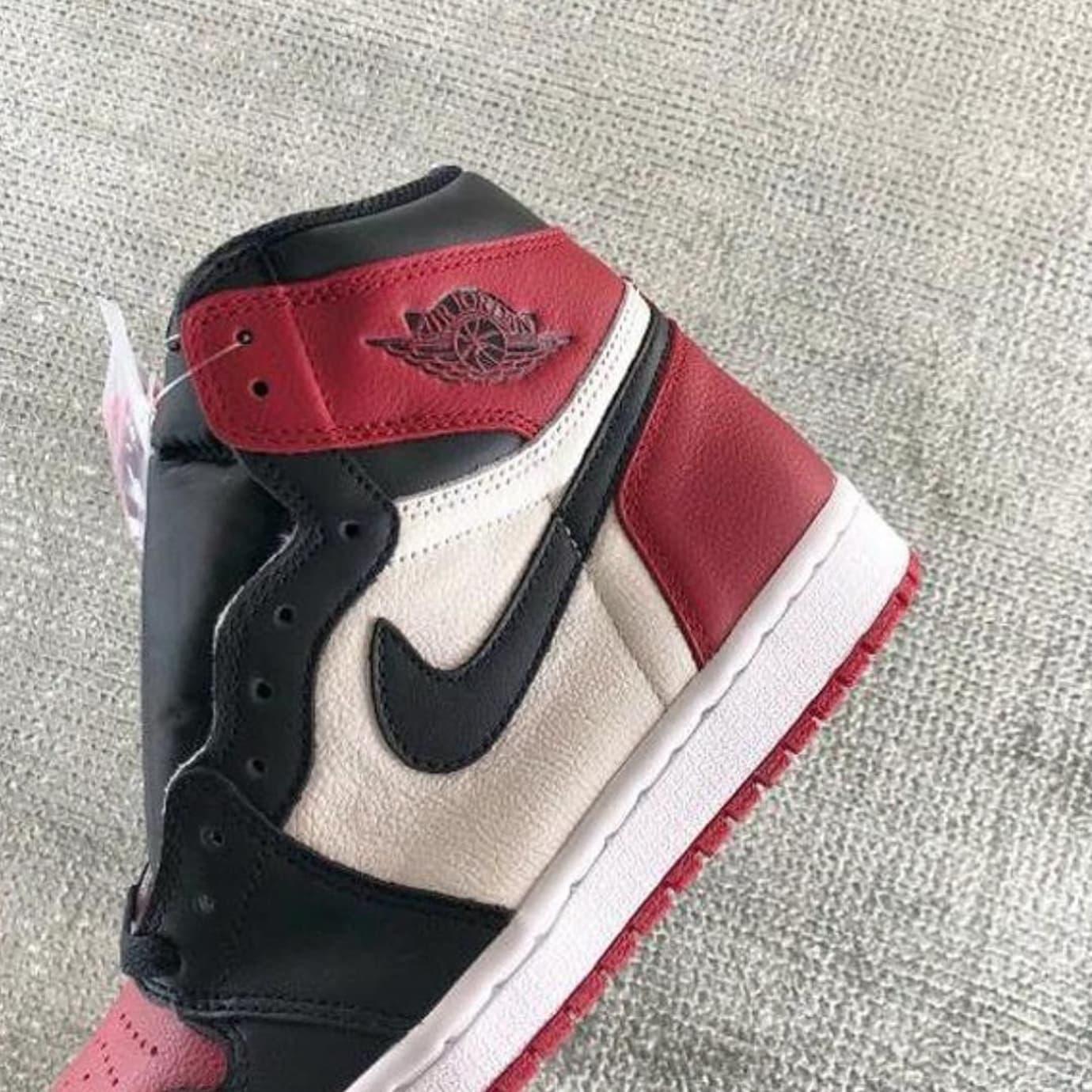 c16cff42382f Air Jordan 1 Bred Toe Release Date 555088-610 Heel
