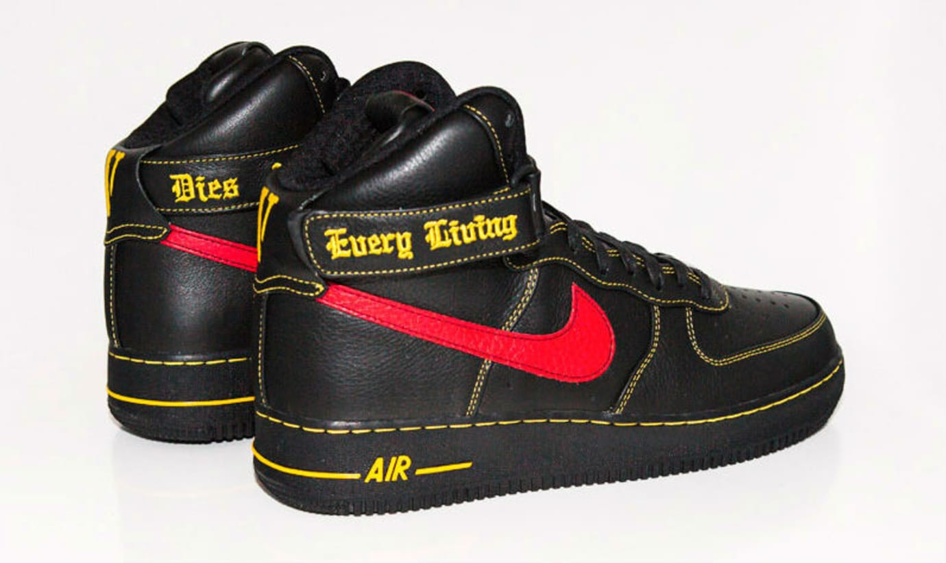 Vlone x Nike Air Force 1 High Black/Red Paris Release (5)