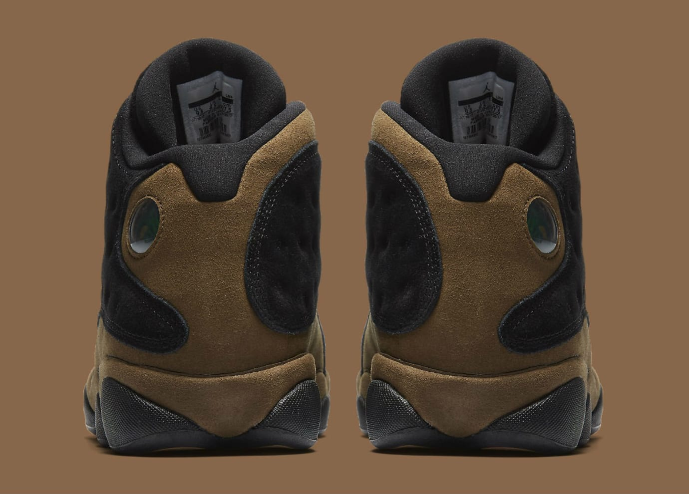 brand new d35e3 8c6b0 Air Jordan 13 XIII Olive Release Date 414571-006 Heel