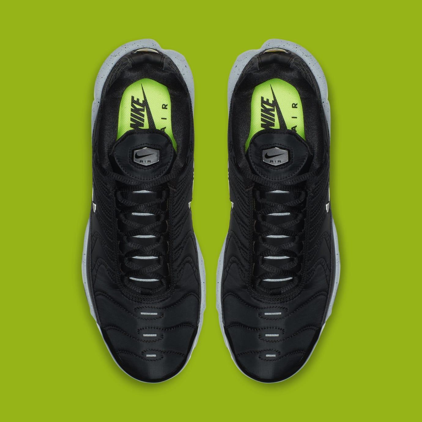 Nike Air Max Plus 'Black/Matte Silver/Volt' 815994-003 (Top)