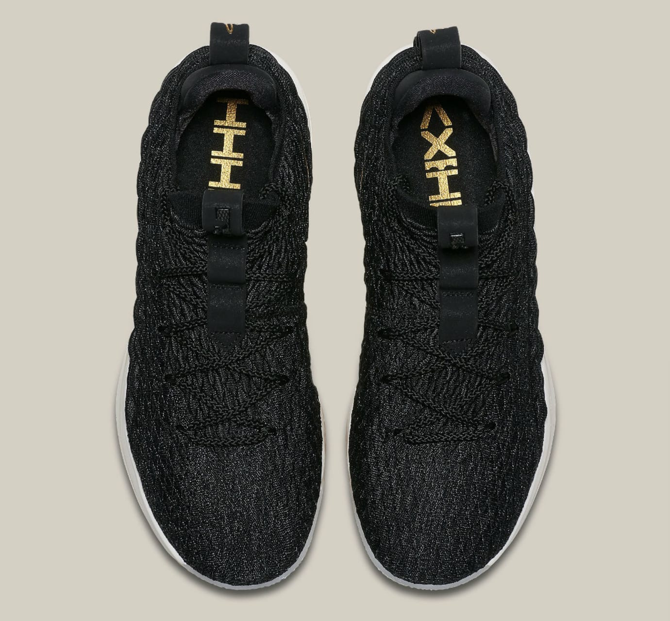 bead6750991 Nike LeBron 15 Low Black Gold Phantom Release Date AO1756-001 Main ...