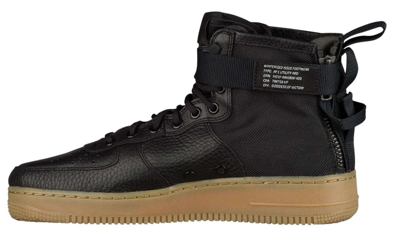 Nike SF Air Force 1 Mid Black Gum Release Date Medial 917753-003
