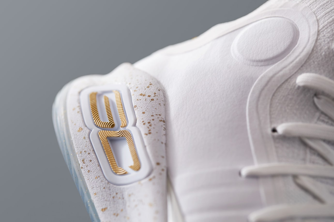 Under Armour Curry 4 White Gold Heel