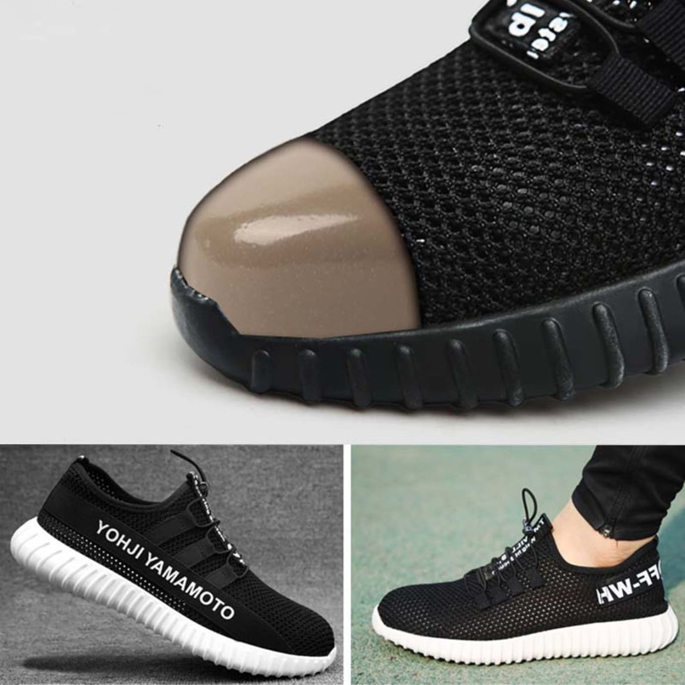 image via ebay fake off white x yeezy indestructible sneakers steel toe - fortnite yeezys