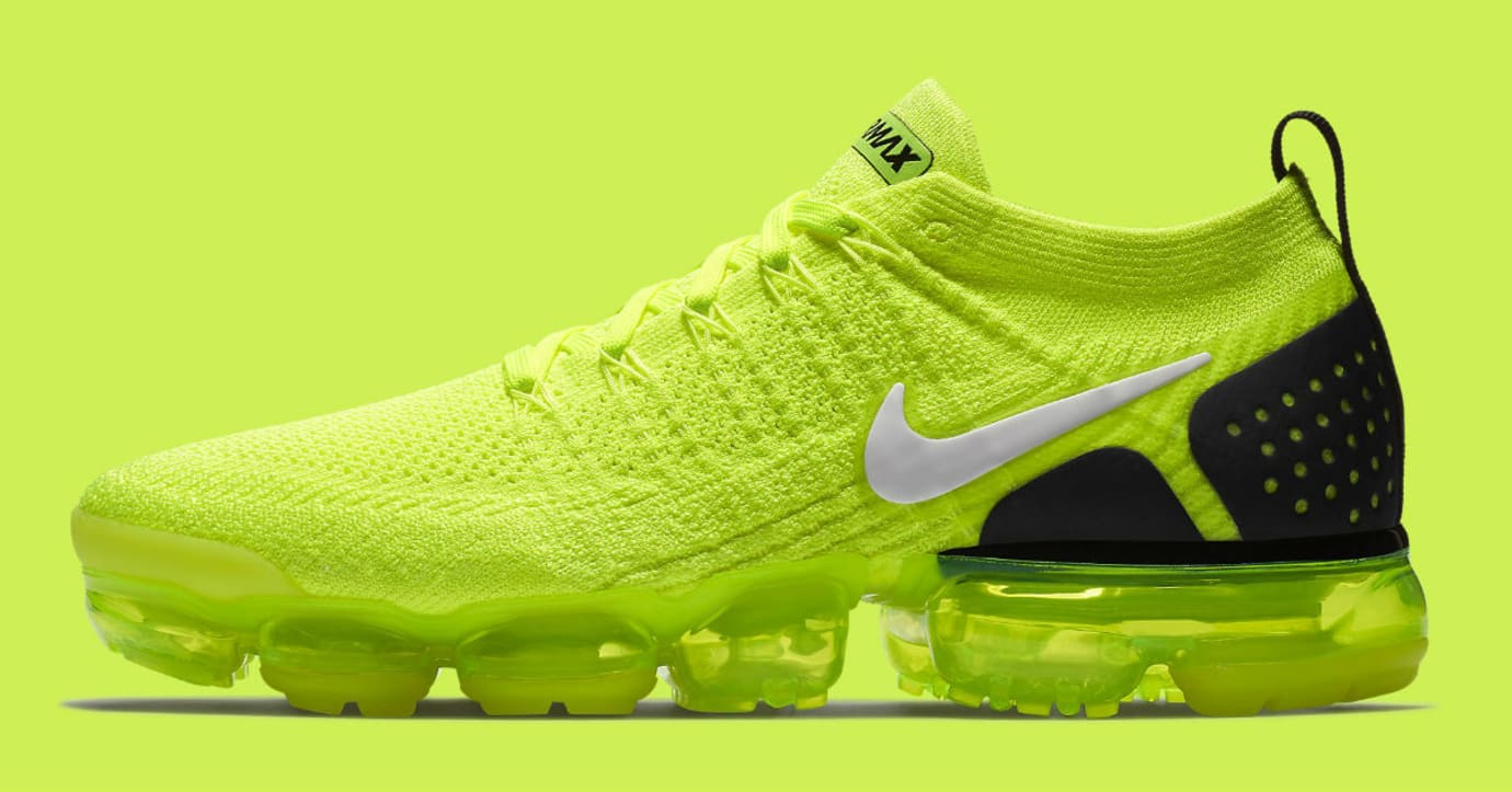 Nike Air VaporMax Flyknit 2 Volt Release Date 942842-700 Profile