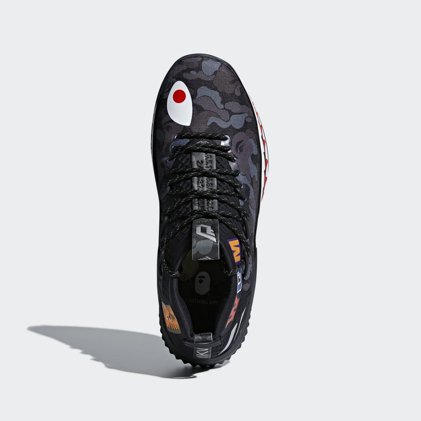 BAPE x Adidas Dame 4 'Black Camo' AP9975 (Top)
