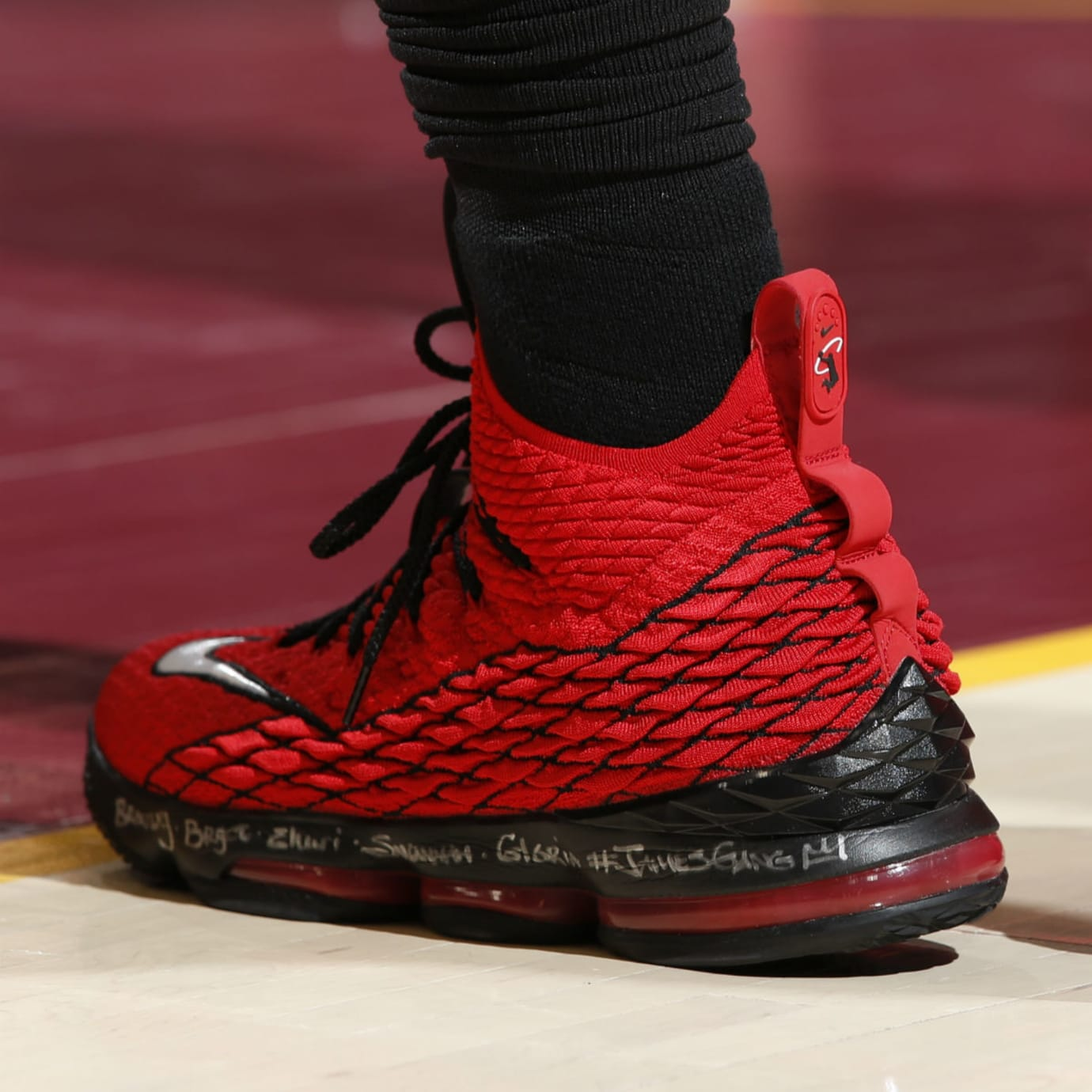 online store d0aca 93a0f Nike LeBron 15 XV Red Griffey | Sole Collector