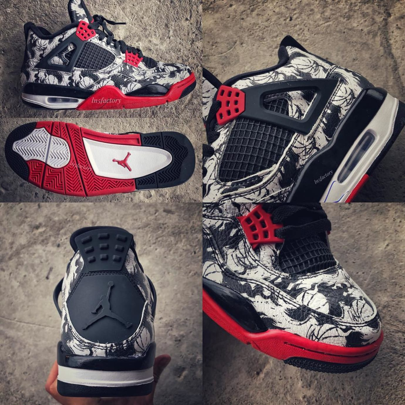 timeless design d0d79 499d8 air-jordan-4-graphic-print-early-look