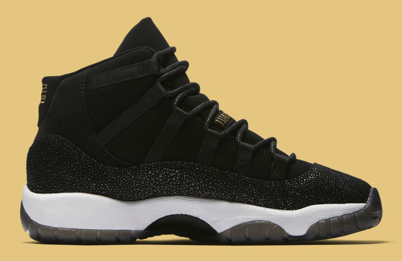 26c513e4 Air Jordan 11 XI Heiress Collection Black/Gold Release Date 852625 ...