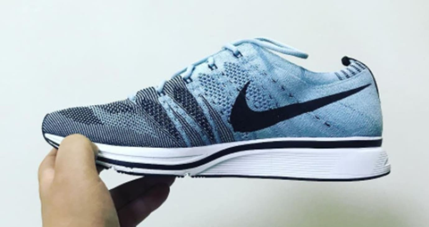 new arrival 4575c 30f80 Nike Flyknit Trainer Cirrus BlueBlack-White AH8396-400 (Medial