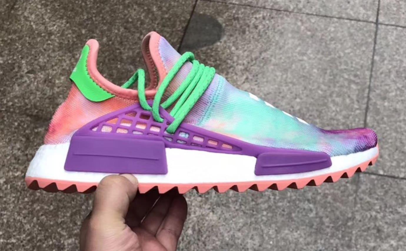 the latest d0920 13e8c Pharrell Adidas NMD Hu Trail Holi Chalk Coral ac7034 Release ...