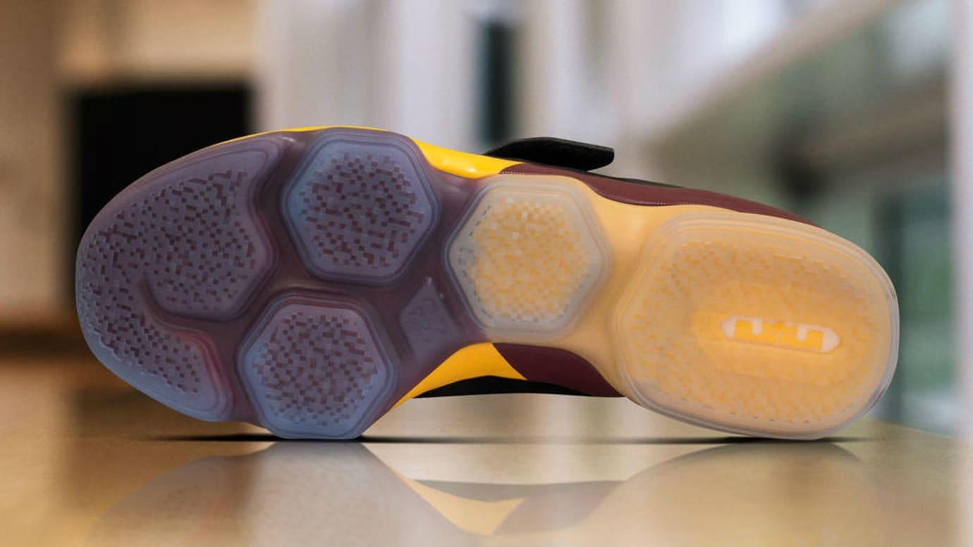 Nike LeBron 14 Black Yellow Wine PE Sole