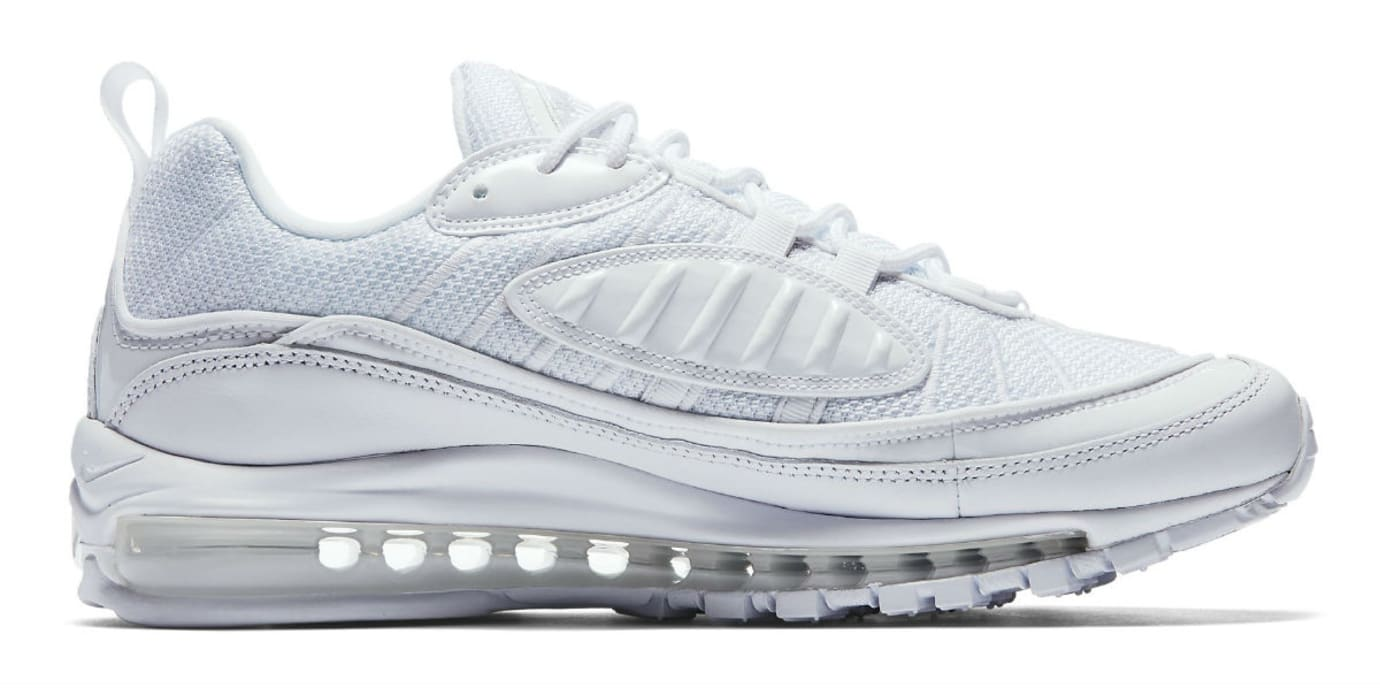 Nike Air Max 98 White Pure Platinum Release Date 640744-106 Medial