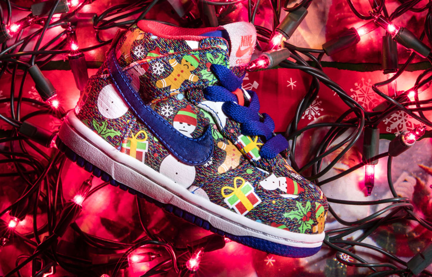 Nike SB Ugly Christmas Sweater Dunks 2017 Concepts 3