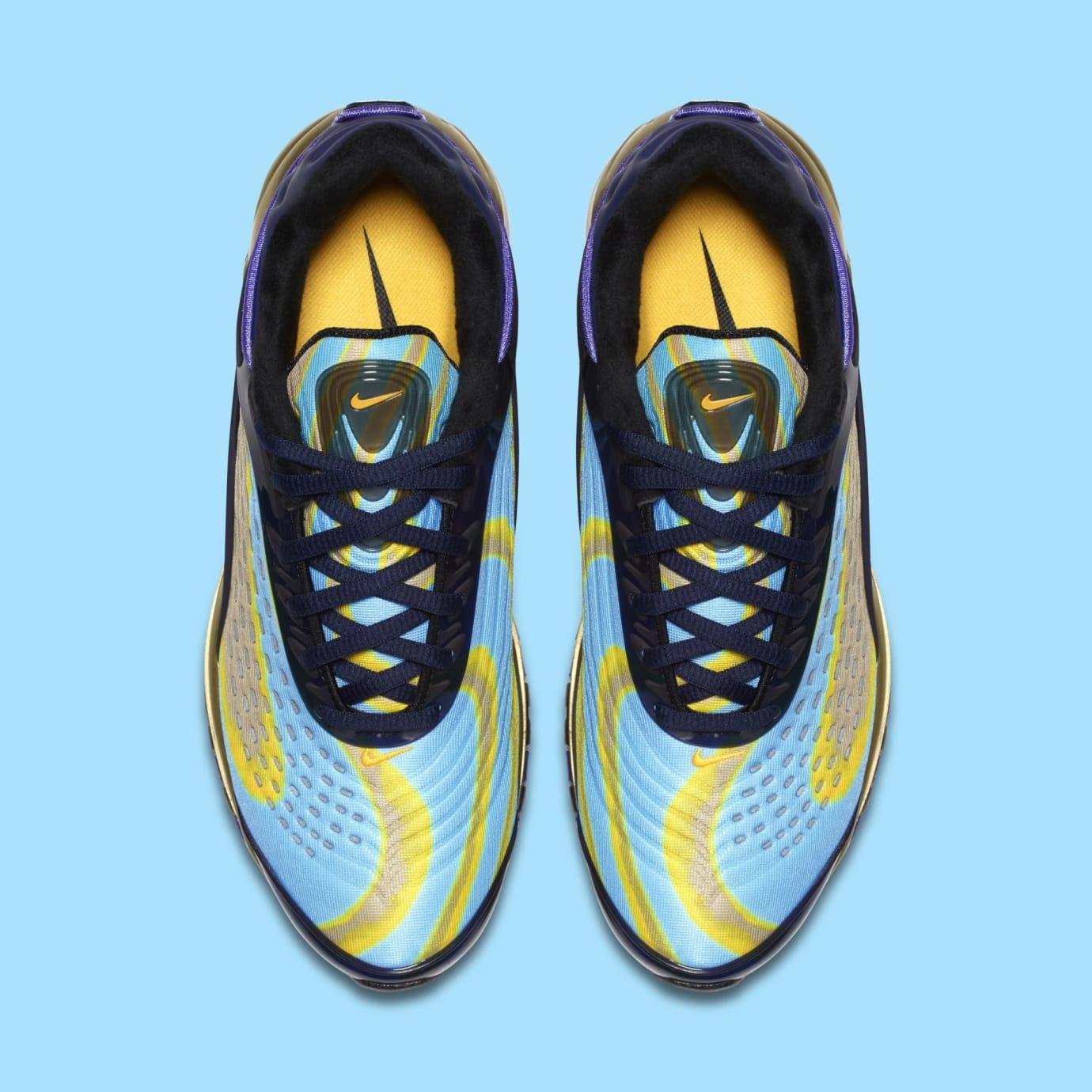 2018 Nike Air Max Deluxe OG Midnight NavyLaser Orange AQ1272 400