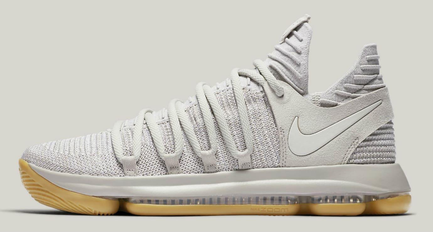 Nike KD 10 Pale Grey Light Bone Gum Release Date Profile 897817-001 ec68f1ab97