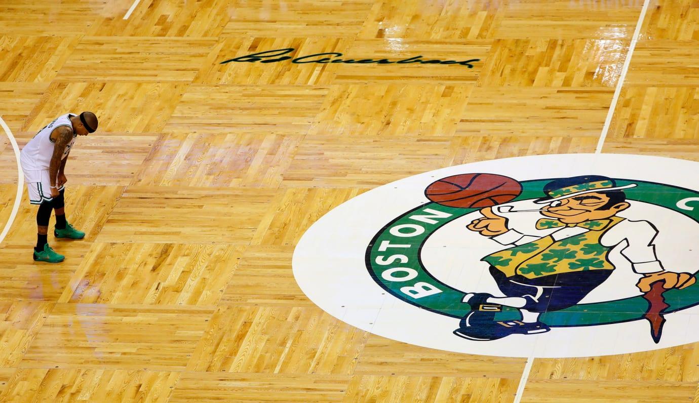 Isaiah Thomas Celtics Court
