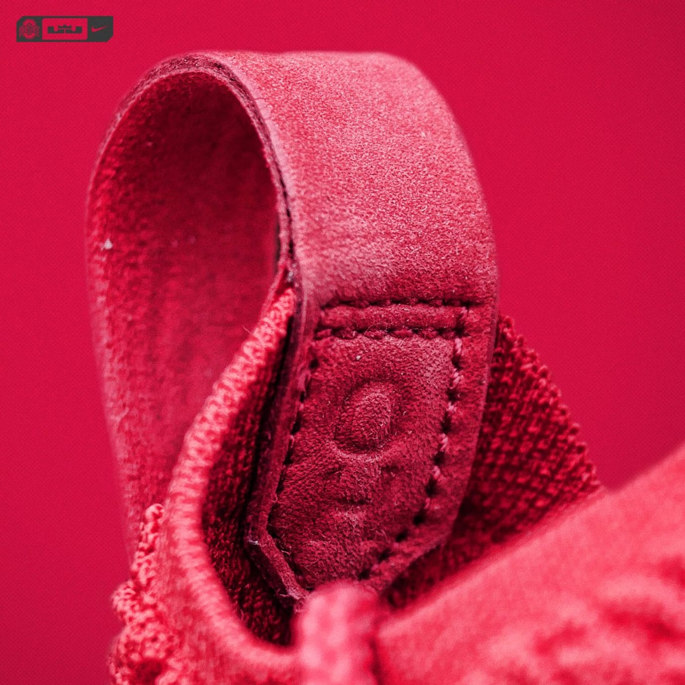 92eee4cd9e4 Image via OhioStateFB · Nike LeBron 15  Beat Michigan  Ohio State PE (Pull  Tab 2)