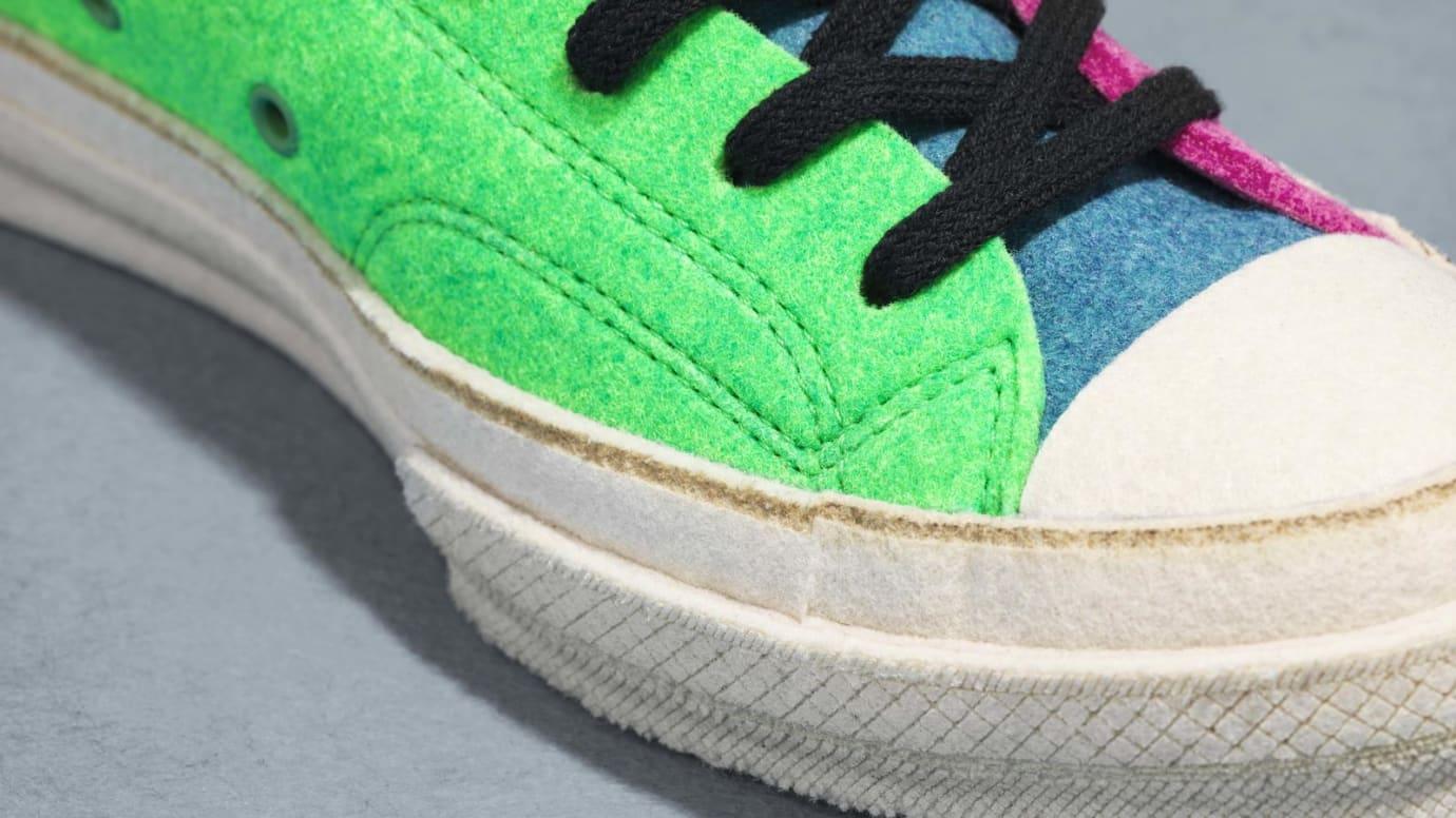 JW Anderson x Converse Chuck 70 Felt 'Pink/Green' (Toe Detail)