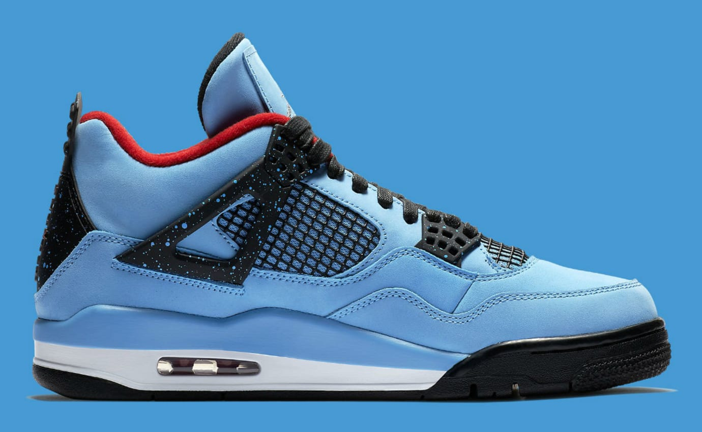 separation shoes 83d27 a8d8c Travis Scott x Air Jordan 4 IV Oilers Release Date 308497-406 Medial