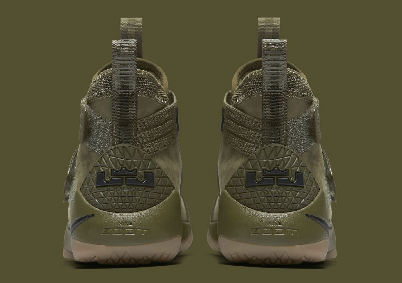 188fe876bc2 Nike LeBron Soldier 11 SFG Olive Release Date Heel 897646-200