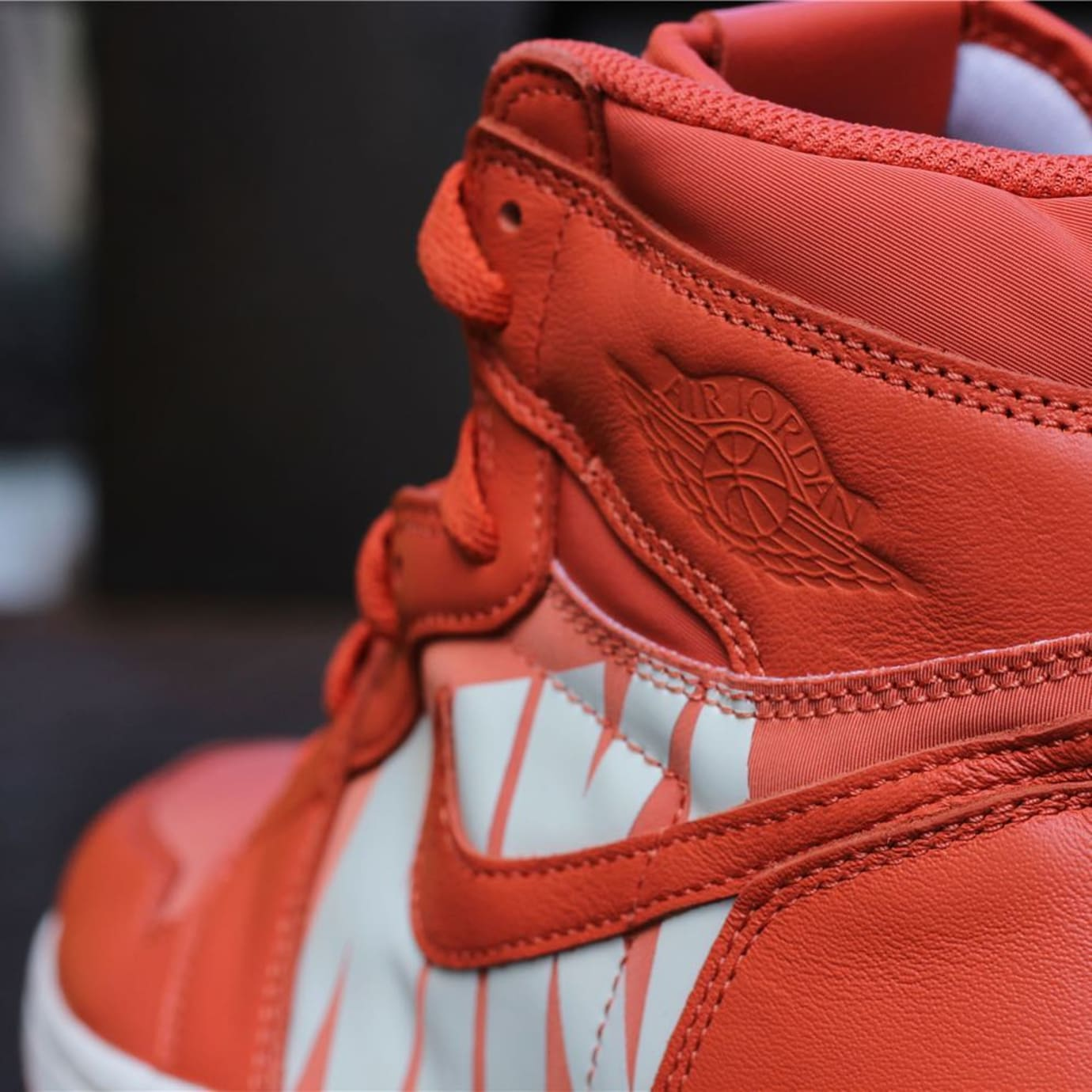 Air Jordan 1 Orange Nike Swoosh Release Date Collar