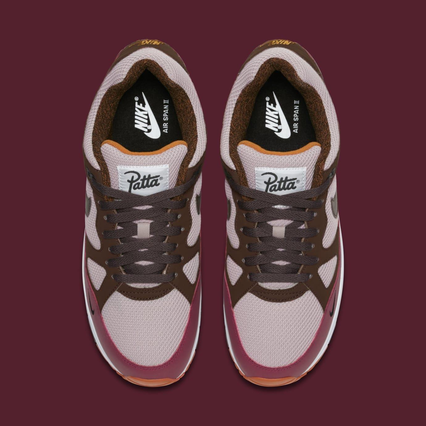 59e4e86a4d5c3a Image via Nike Patta x Nike Air Span 2 AO2925-600 (Top)
