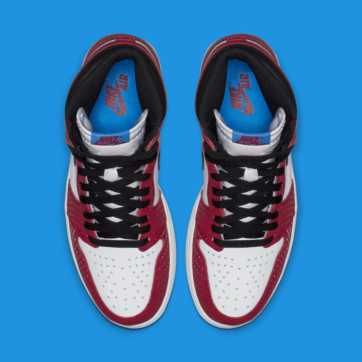 cb5af63f4b1f6e Image via Nike Air Jordan 1  Origin Story  Red White-Photo Blue-Black 555088