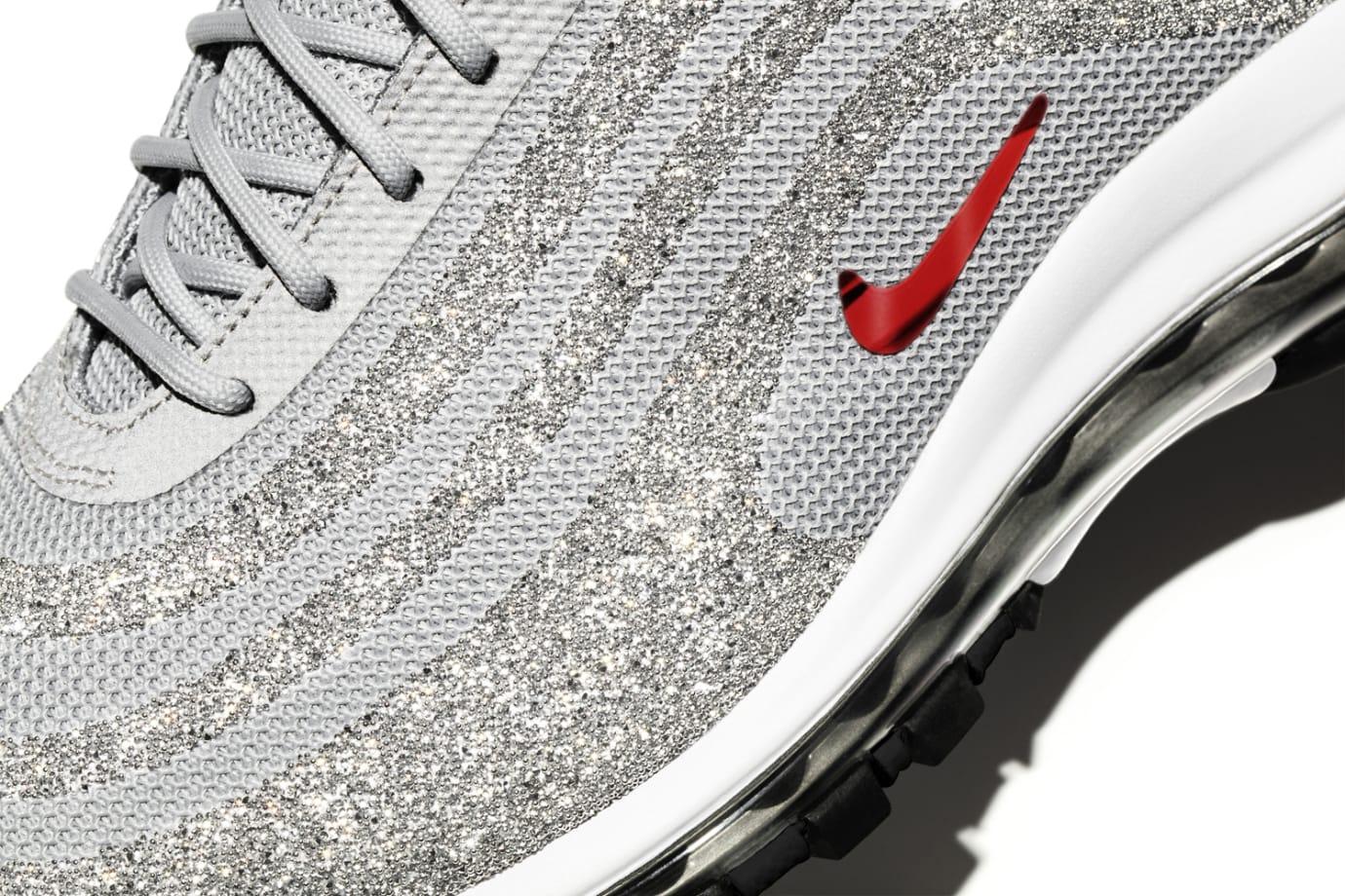 Image via Nike Nike Air Max 97 Swarovski Crystal Silver Upper d1c0cea524