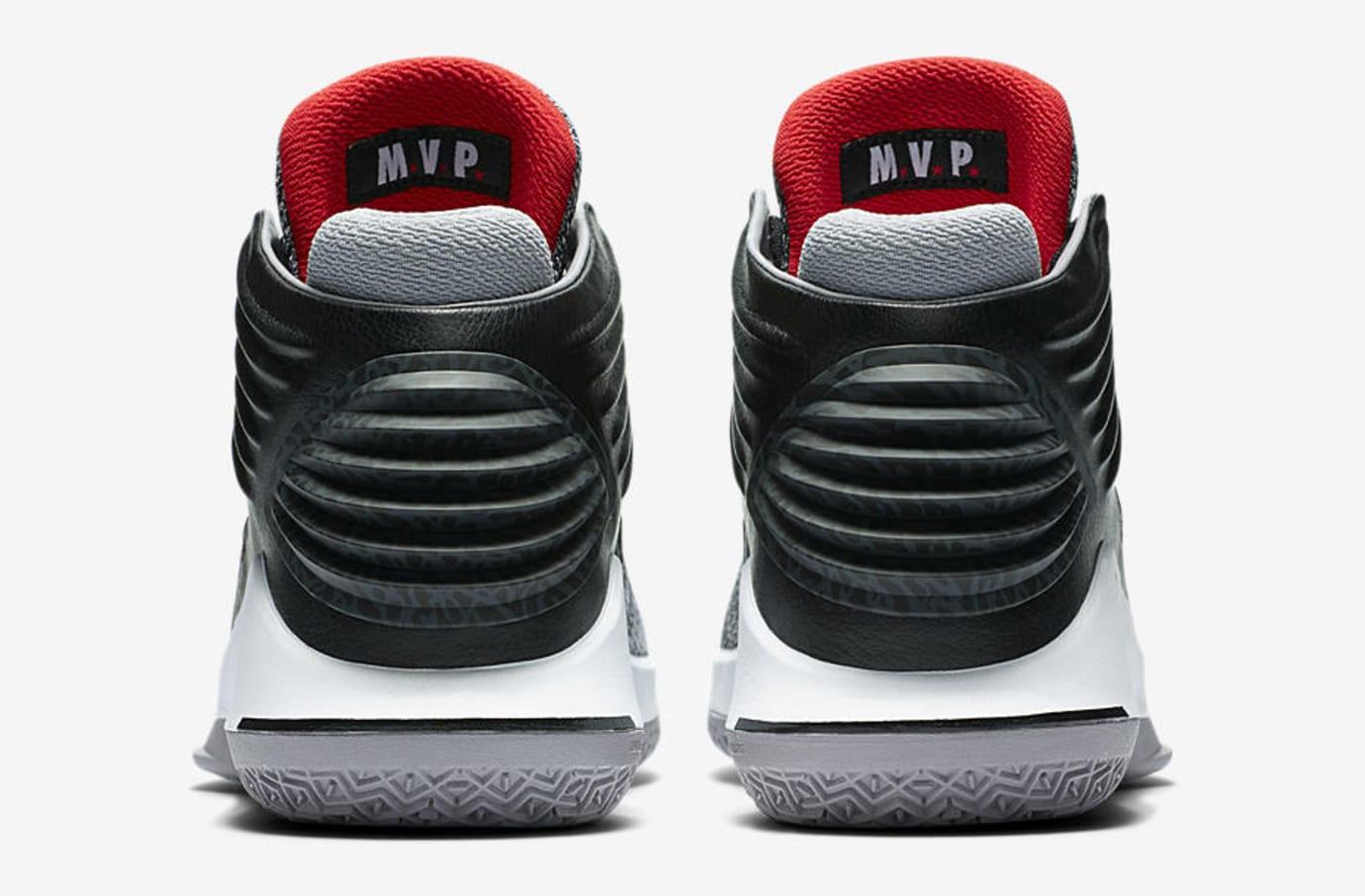 Air Jordan 32 MVP Black Cement AA1253-002 Heel