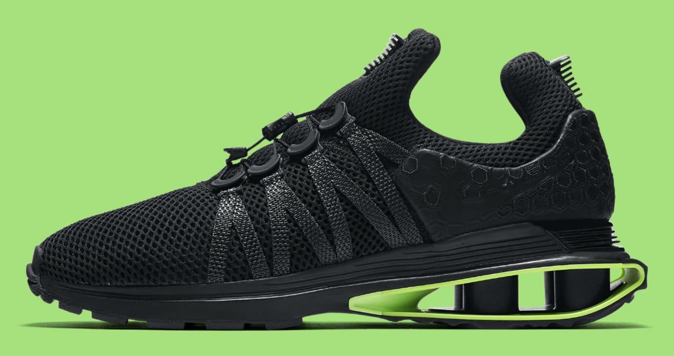 Nike Shox Gravity Luxe Black Green Strike Release Date AR1470-003 Profile