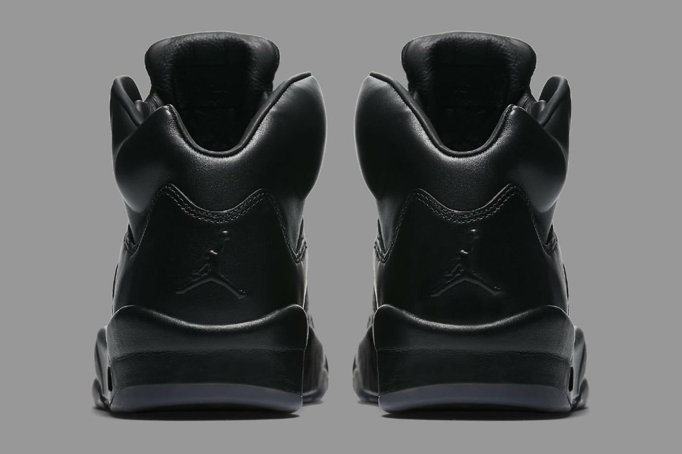 Air Jordan 5 Premium Black Release Date Heel 881432-010