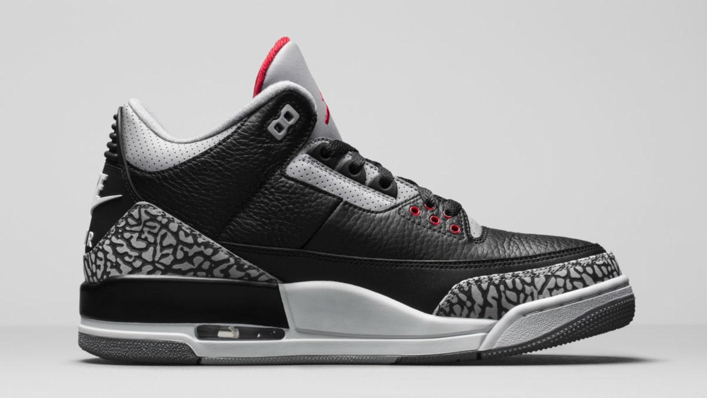 Air Jordan 3 III Black Cement Release Date 854262-001 Medial
