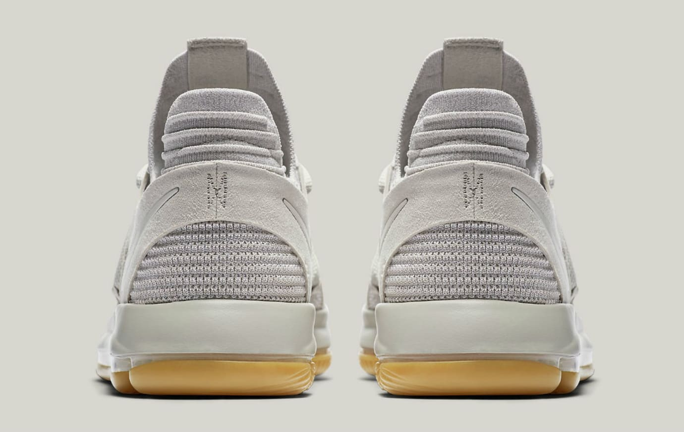 Nike KD 10 Pale Grey Light Bone Gum Release Date Heel 897817-001