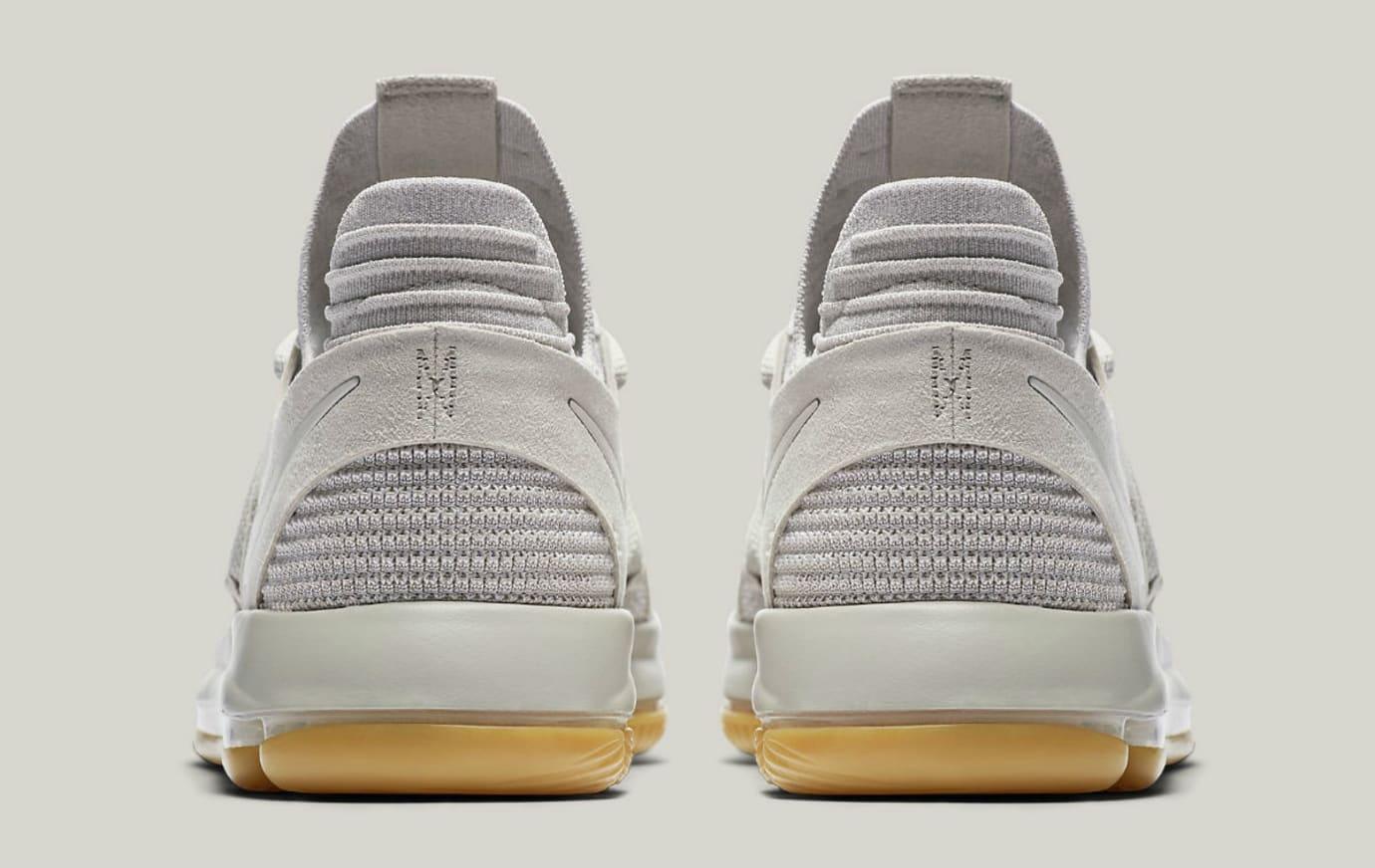 Nike KD 10 Pale Grey Light Bone Gum Release Date Heel 897817-001 b7de82e5e6