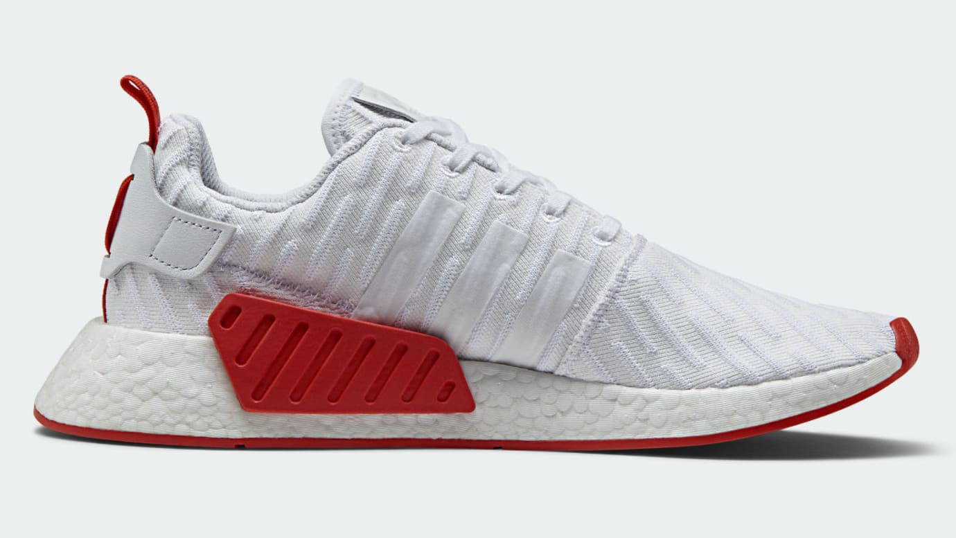 super popular 22287 02265 Adidas NMD R2 White Red Release Date BA7253 | Sole Collector