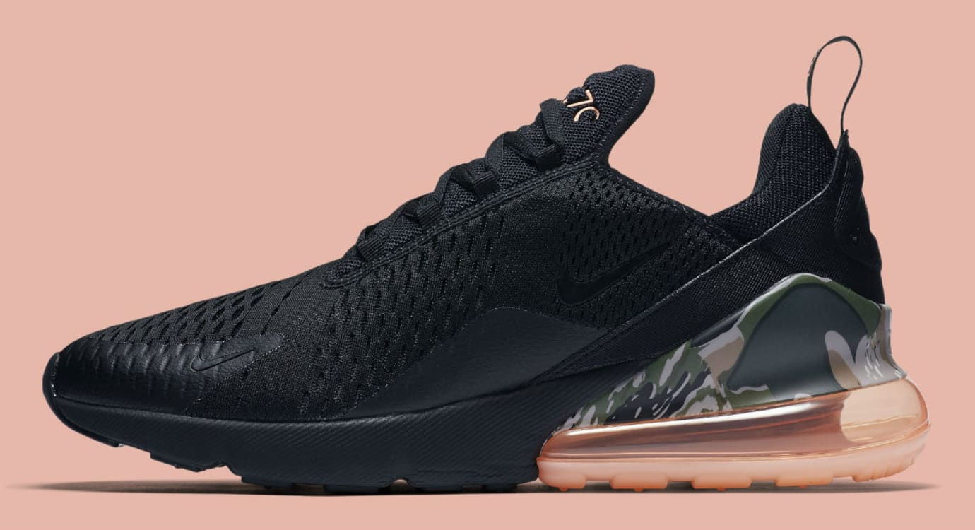 975cfc9dd2 Nike Air Max 270 Sunset Tint Camo Heel Release Date AQ6239-001 Profile