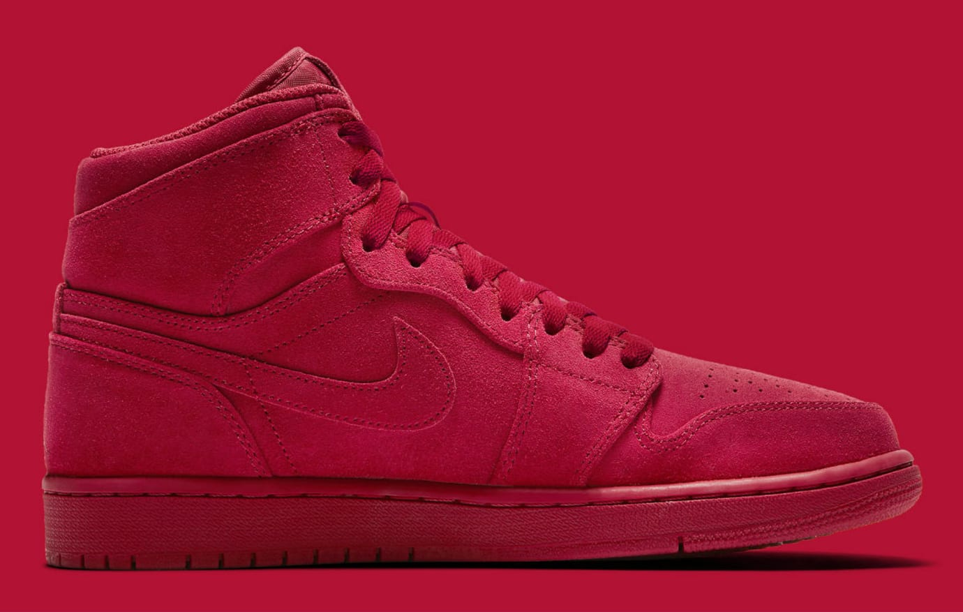 Air Jordan 1 High Red Suede Release Date Medial 332550-603 4ccecb19d6