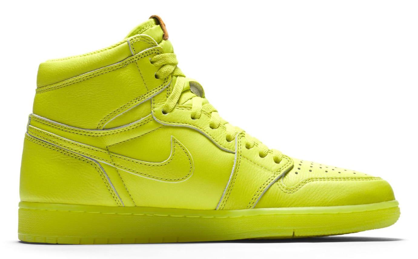 Air Jordan 1 Gatorade Cyber Yellow Lime Release Date AJ5997-345 Medial