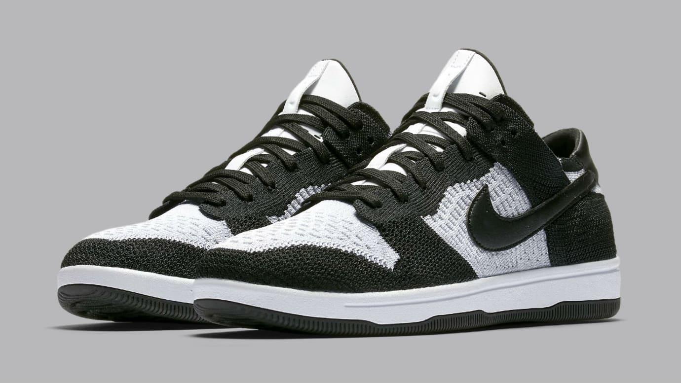Nike SB Dunk Low Flyknit White/Black 917746-100